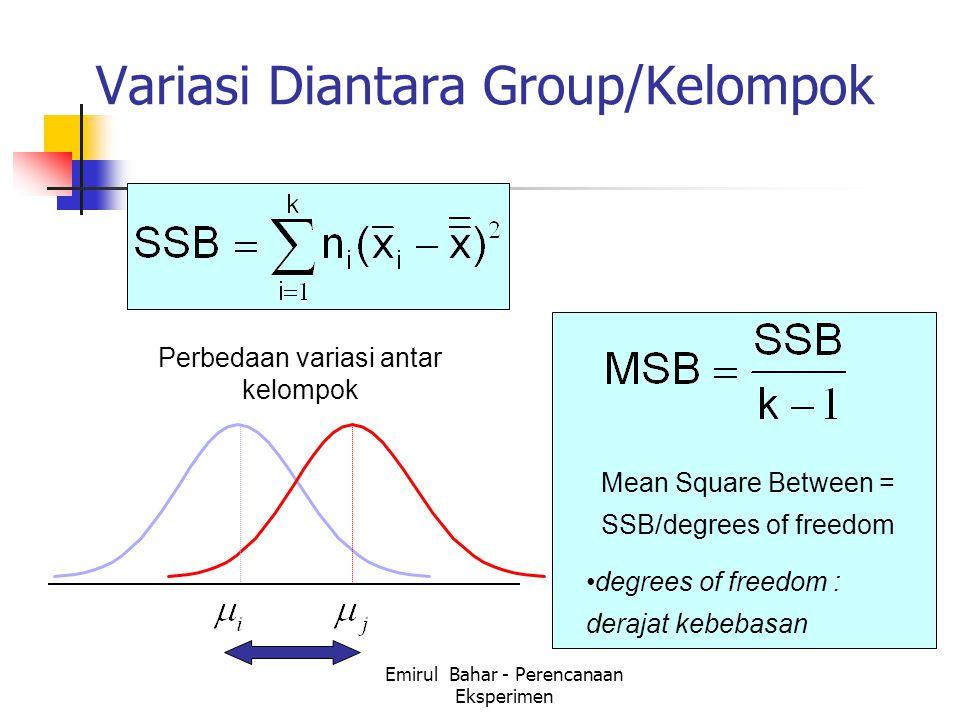 Variasi Diantara Group/Kelompok