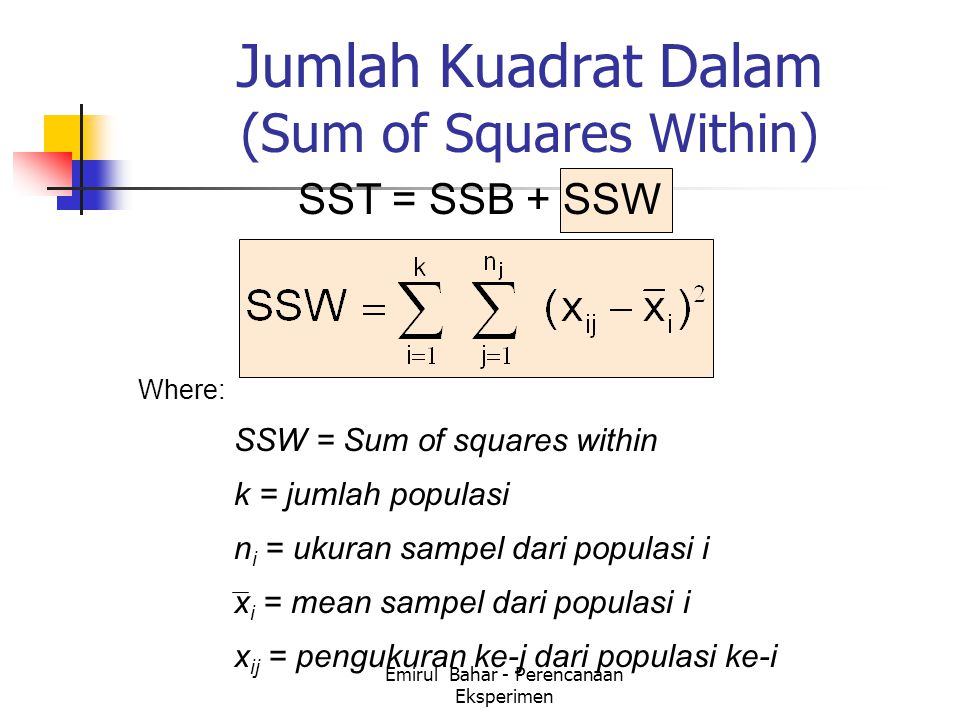 Jumlah Kuadrat Dalam (Sum of Squares Within)