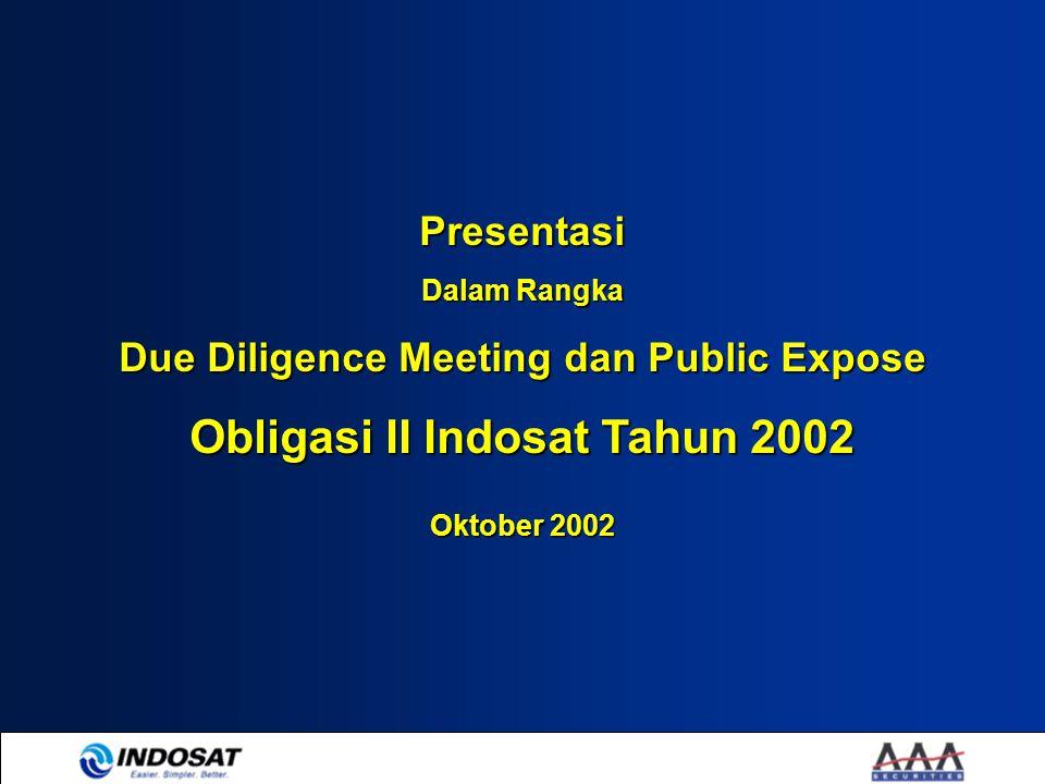 Due Diligence Meeting dan Public Expose Obligasi II Indosat Tahun 2002