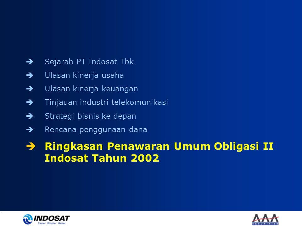 Ringkasan Penawaran Umum Obligasi II Indosat Tahun 2002