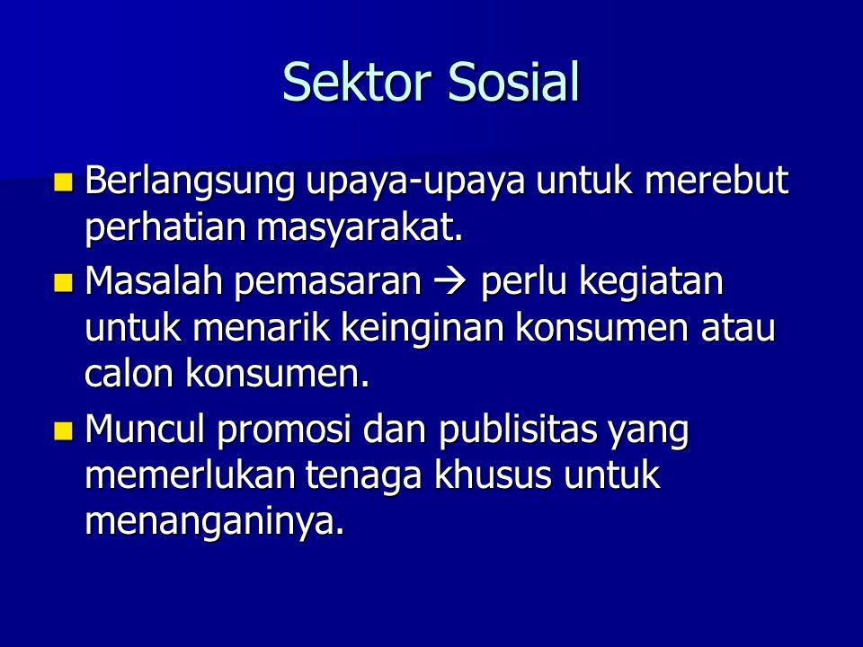 Sektor Sosial Berlangsung upaya-upaya untuk merebut perhatian masyarakat.