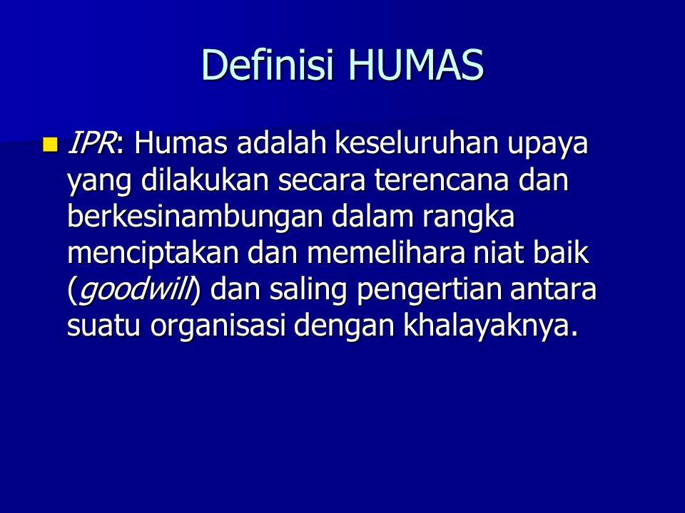 Definisi HUMAS