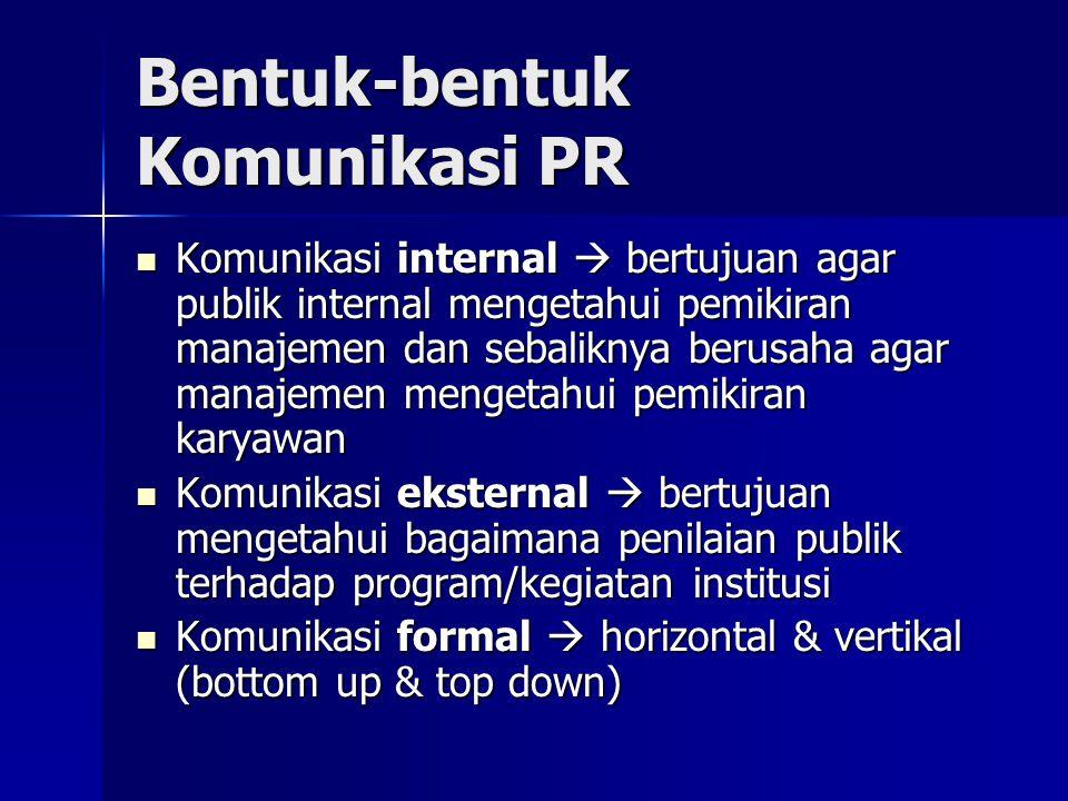Bentuk-bentuk Komunikasi PR
