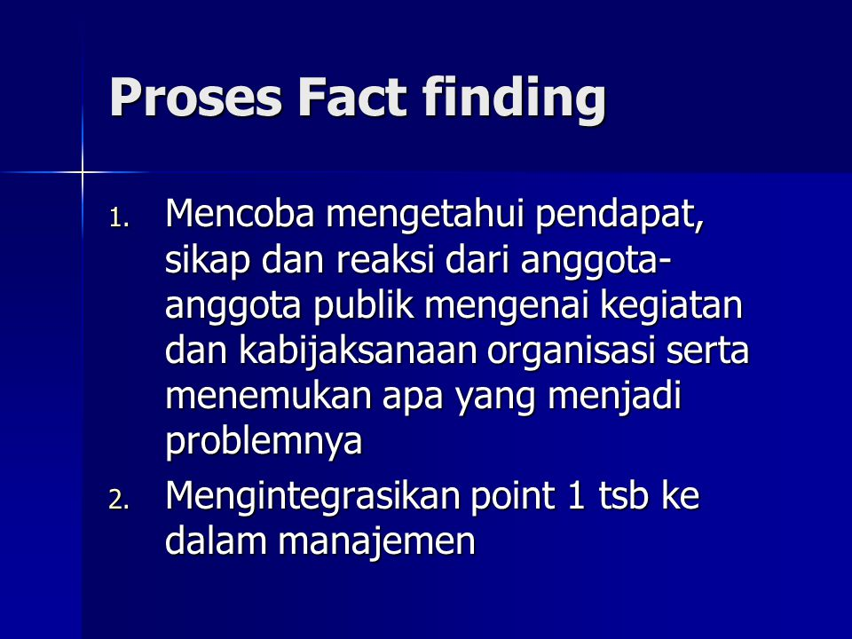 Proses Fact finding