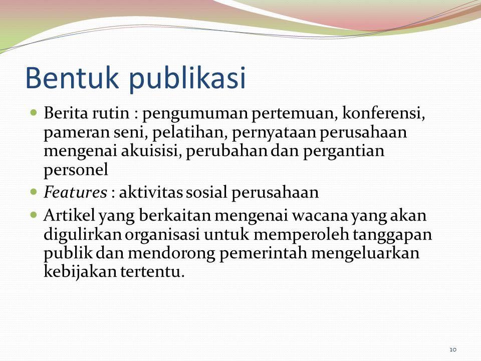 Bentuk publikasi