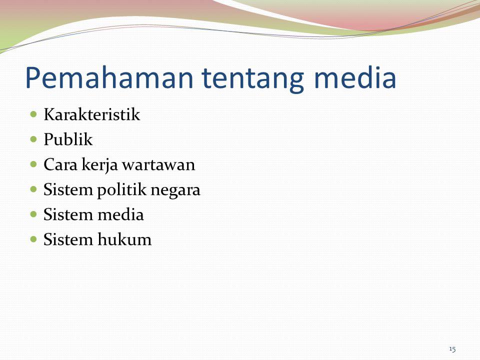 Pemahaman tentang media