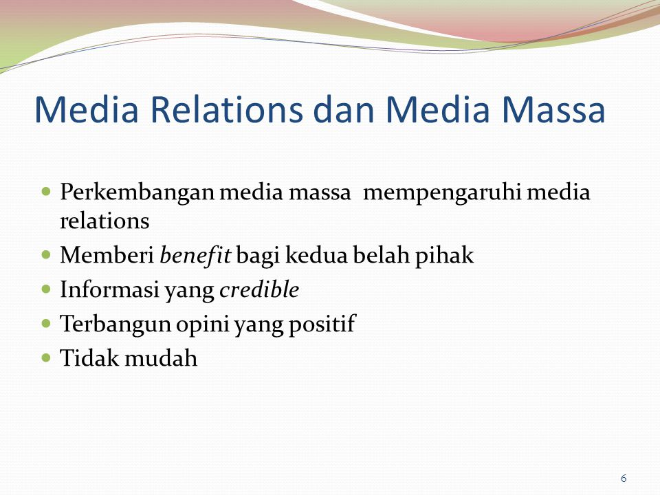 Media Relations dan Media Massa