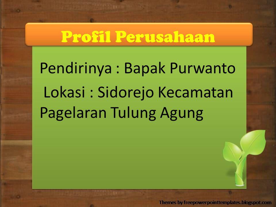 Profil Perusahaan Pendirinya : Bapak Purwanto.