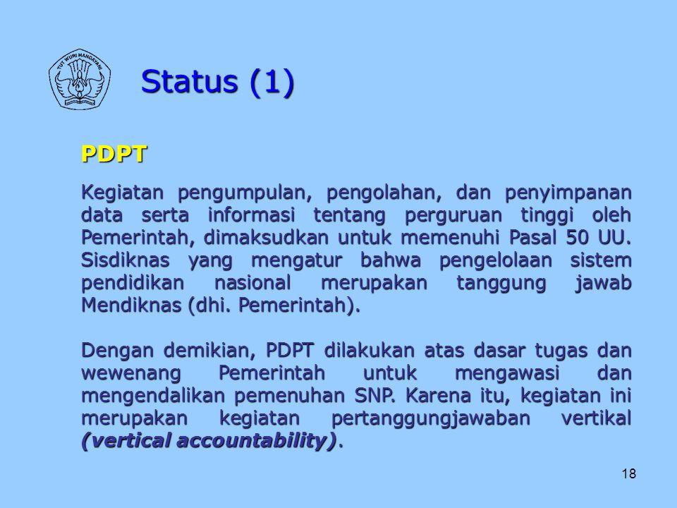 Status (1) PDPT.