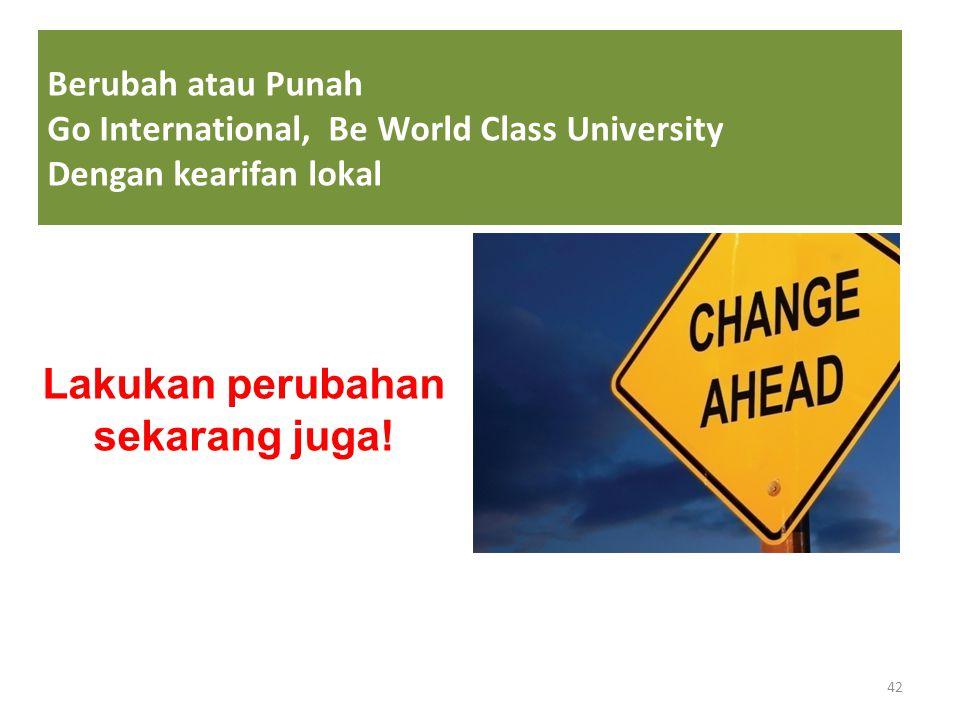 Lakukan perubahan sekarang juga!