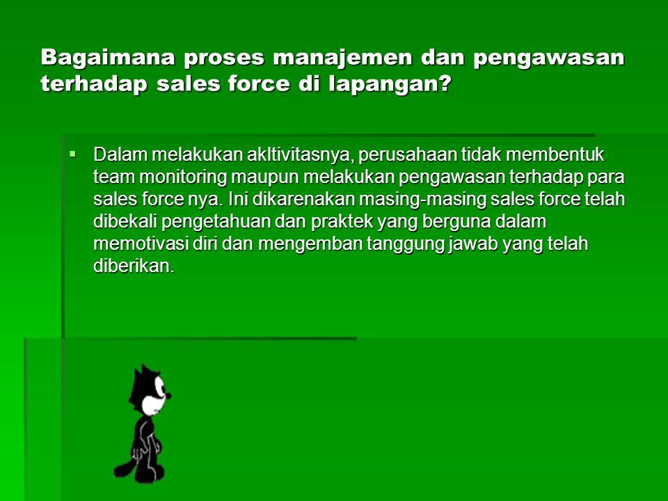 Bagaimana proses manajemen dan pengawasan terhadap sales force di lapangan