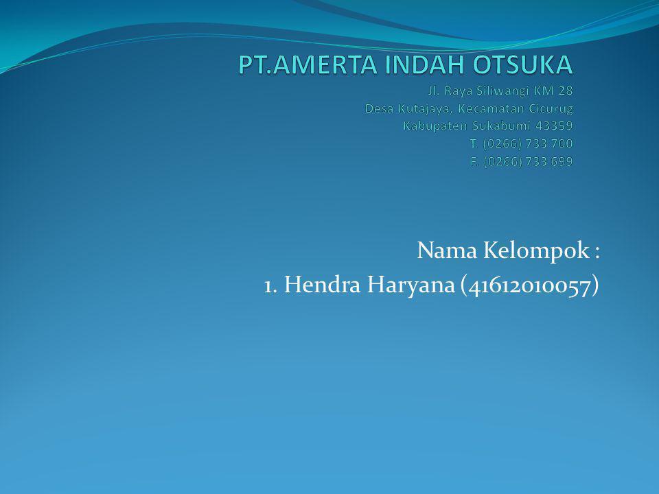 Nama Kelompok : 1. Hendra Haryana (41612010057)