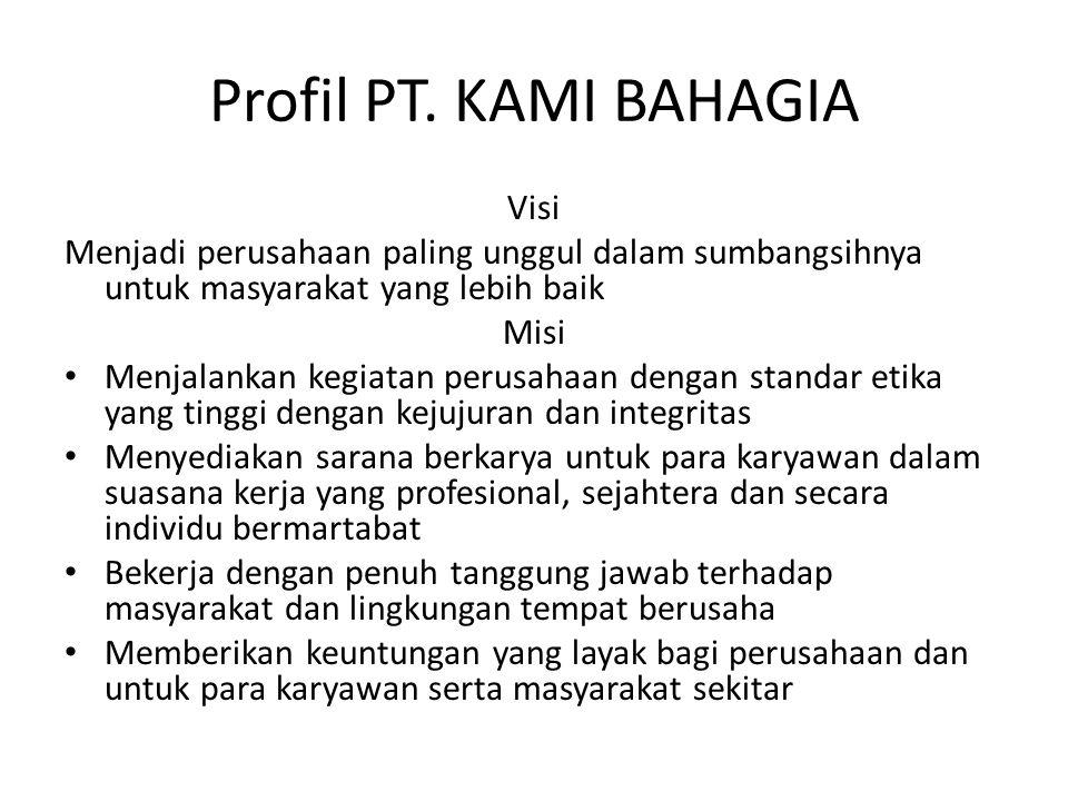 Profil PT. KAMI BAHAGIA Visi