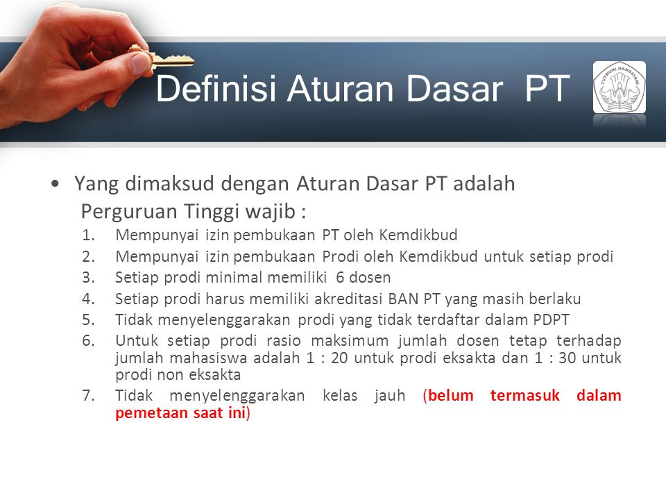 Definisi Aturan Dasar PT