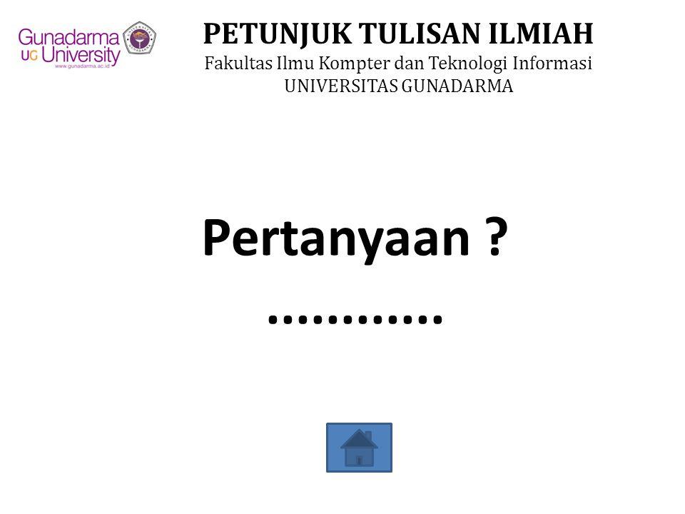Pertanyaan ............
