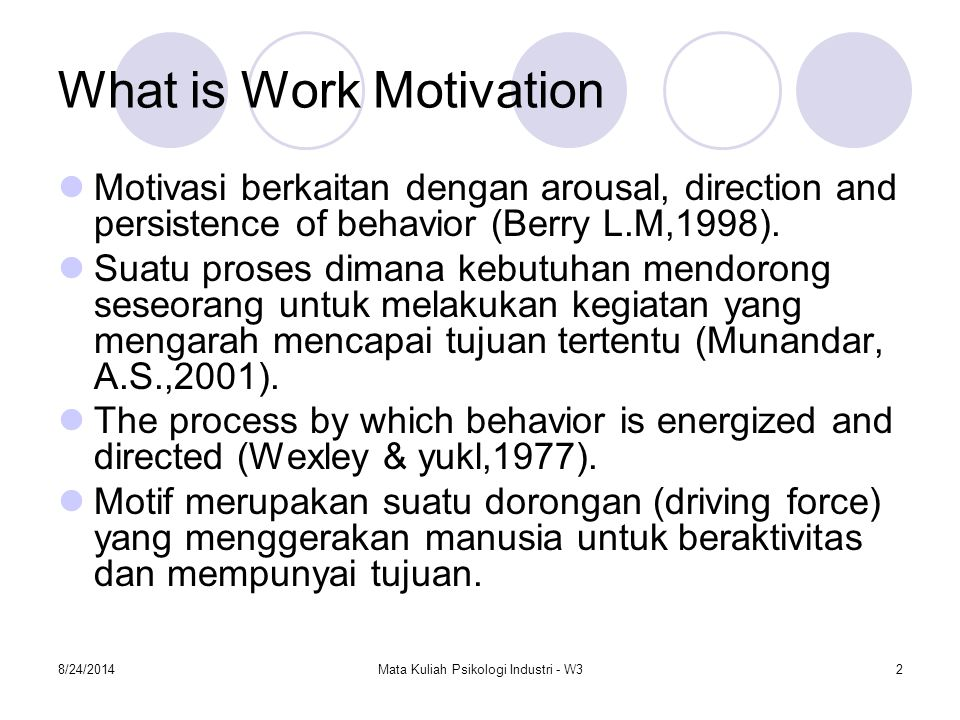 What is Work Motivation