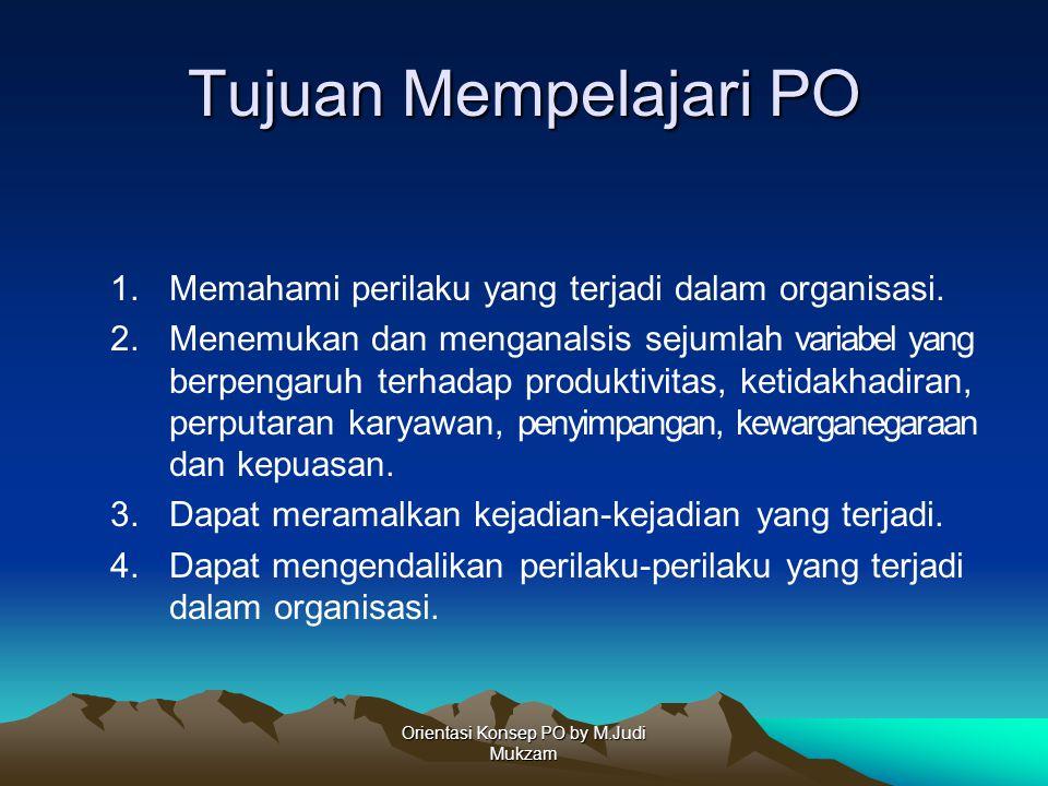 Orientasi Konsep PO by M.Judi Mukzam