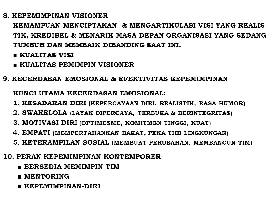 8. KEPEMIMPINAN VISIONER