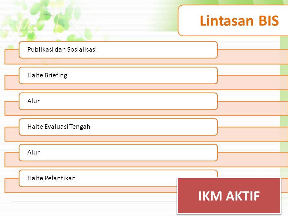 Lintasan BIS IKM AKTIF Publikasi dan Sosialisasi Halte Briefing Alur