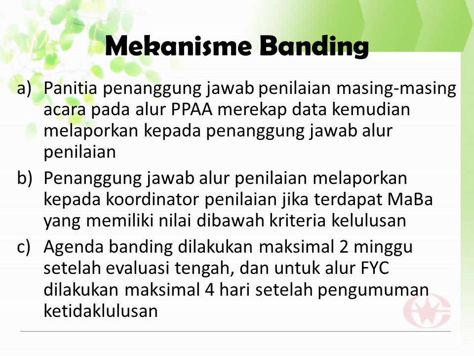 Mekanisme Banding