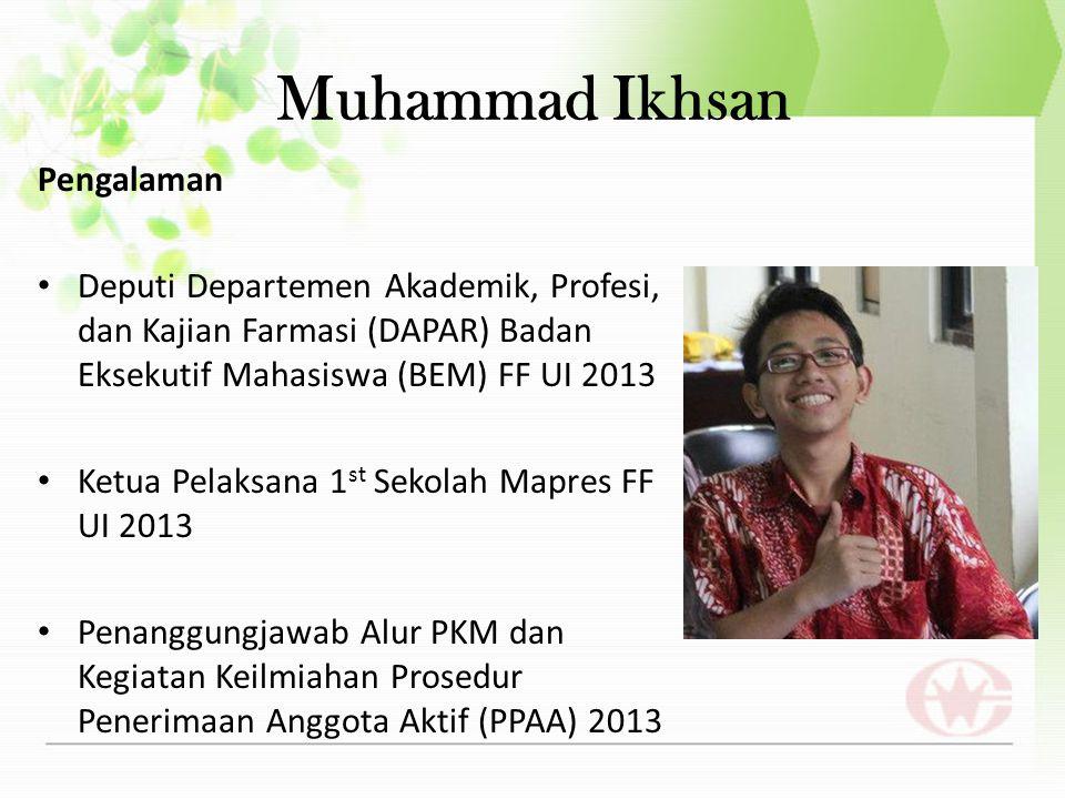 Muhammad Ikhsan Pengalaman