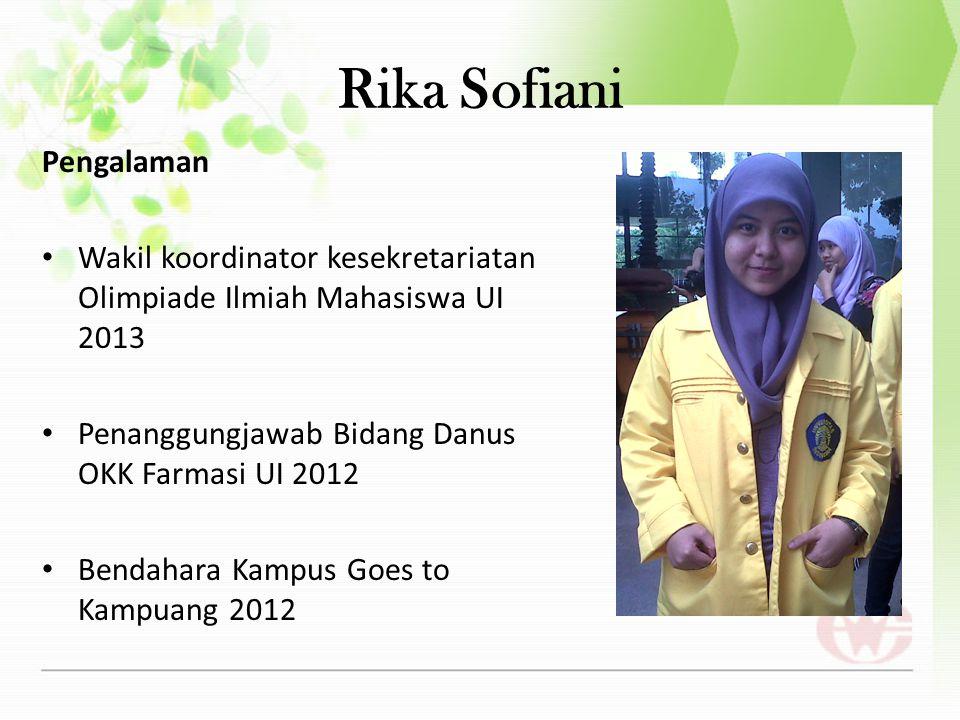 Rika Sofiani Pengalaman