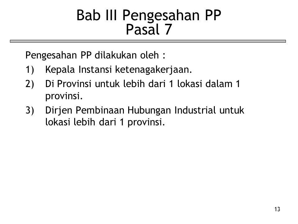 Bab III Pengesahan PP Pasal 7