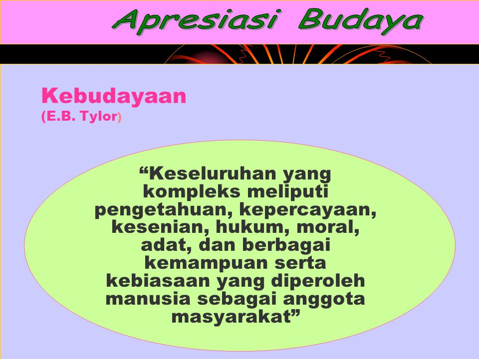 Apresiasi Budaya Kebudayaan (E.B. Tylor)