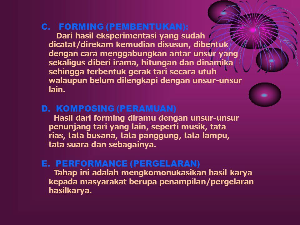 C. FORMING (PEMBENTUKAN):