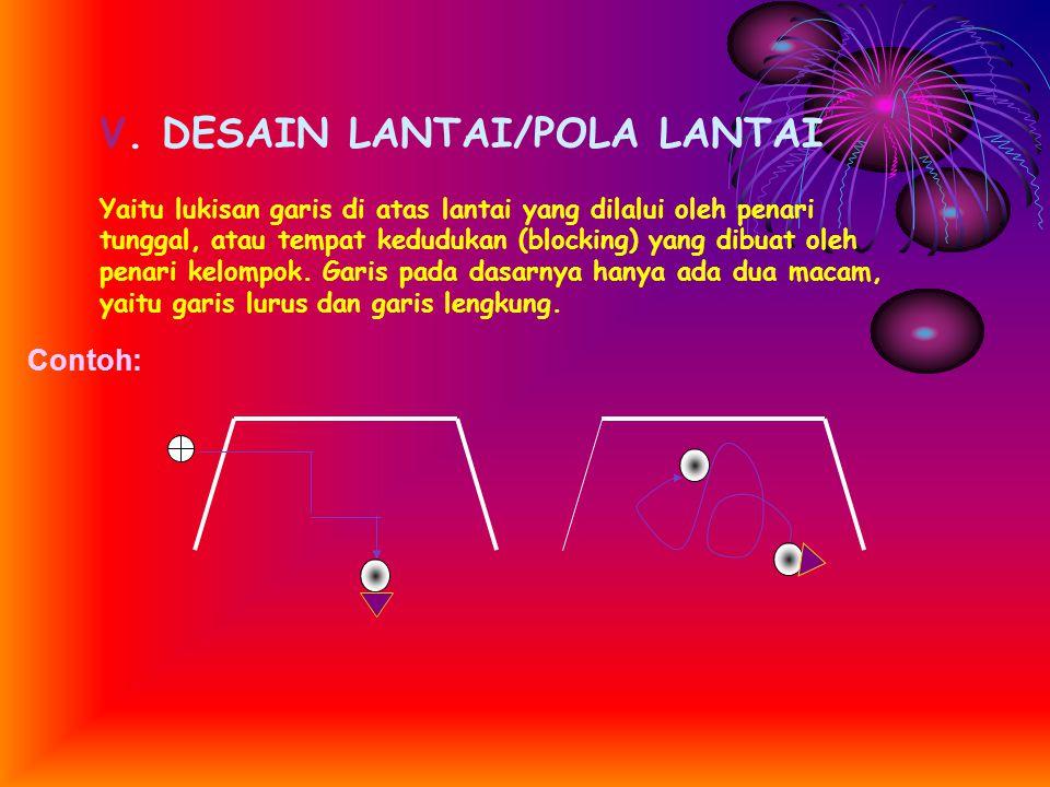 V. DESAIN LANTAI/POLA LANTAI