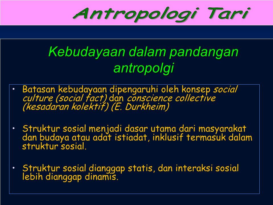 Kebudayaan dalam pandangan antropolgi