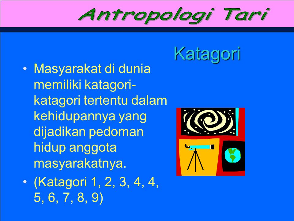 Antropologi Tari Katagori.