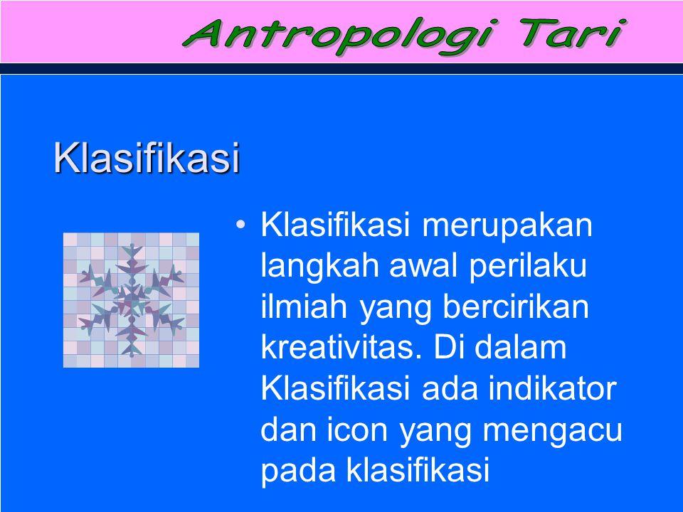 Antropologi Tari Klasifikasi.