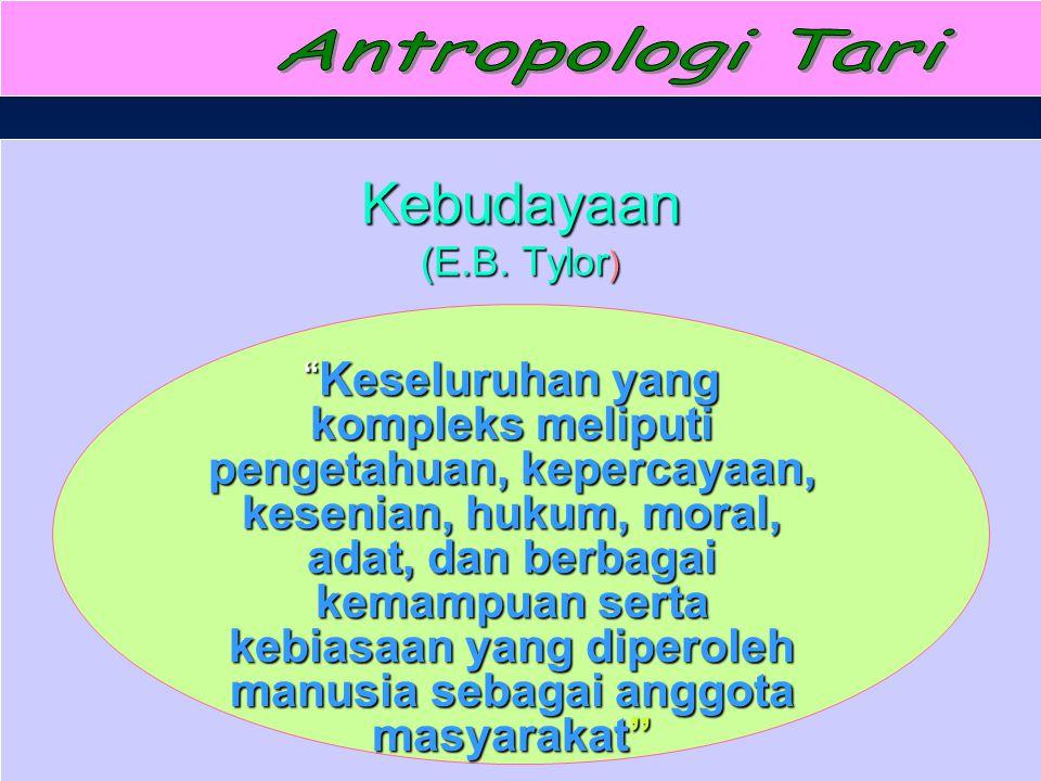 Antropologi Tari Kebudayaan (E.B. Tylor)
