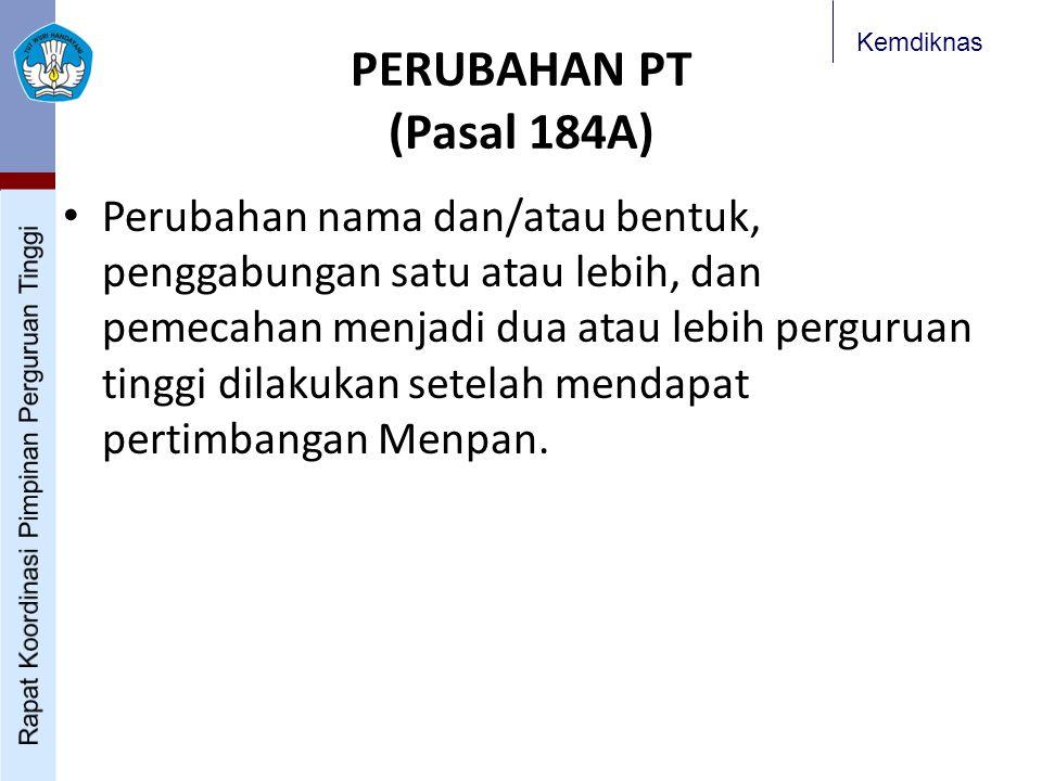 PERUBAHAN PT (Pasal 184A)