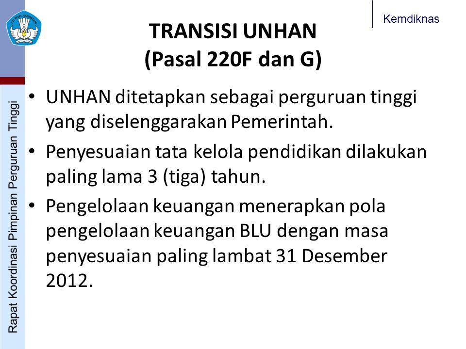 TRANSISI UNHAN (Pasal 220F dan G)