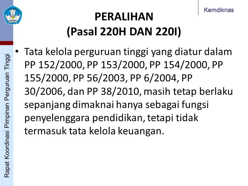 PERALIHAN (Pasal 220H DAN 220I)
