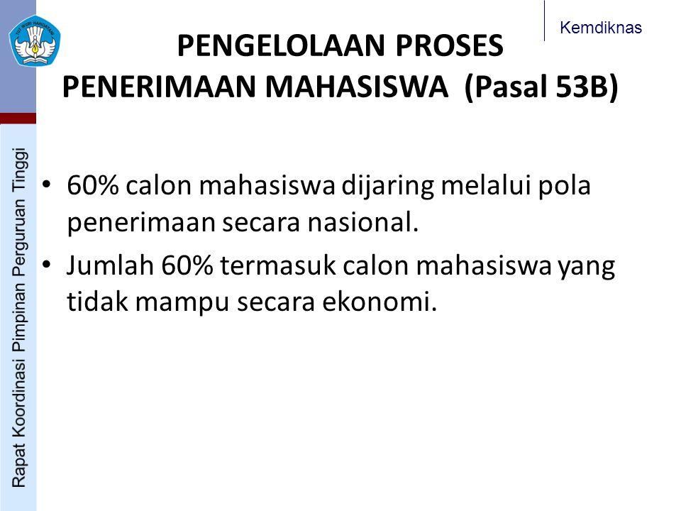 PENGELOLAAN PROSES PENERIMAAN MAHASISWA (Pasal 53B)