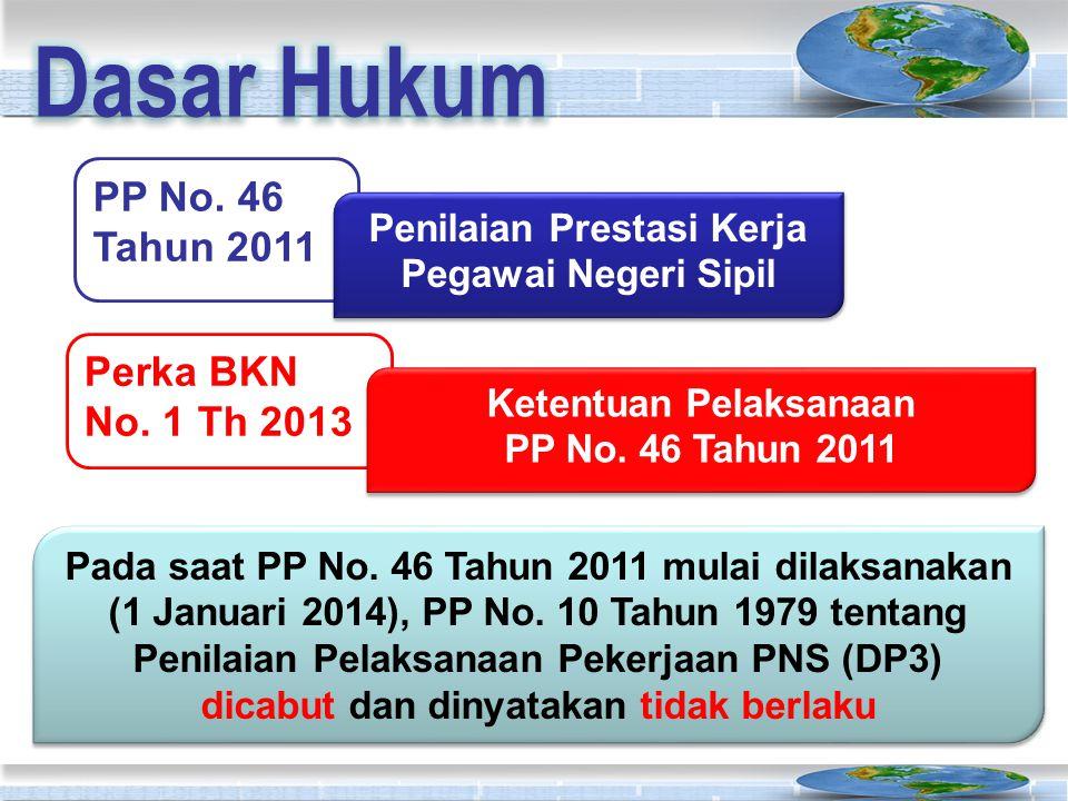 Dasar Hukum PP No. 46 Tahun 2011 Perka BKN No. 1 Th 2013