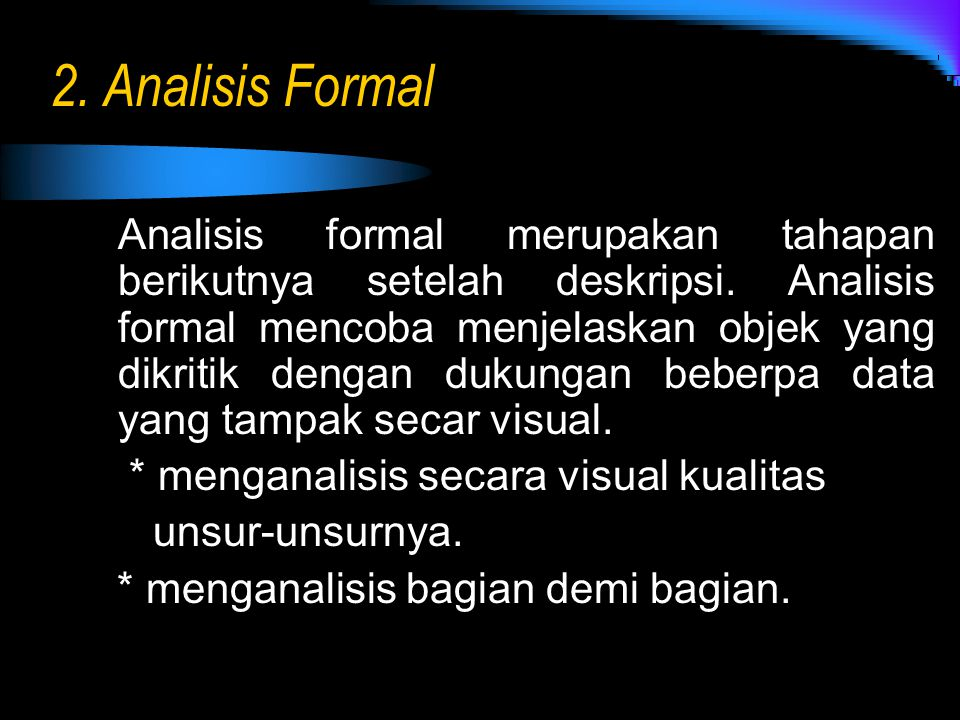2. Analisis Formal