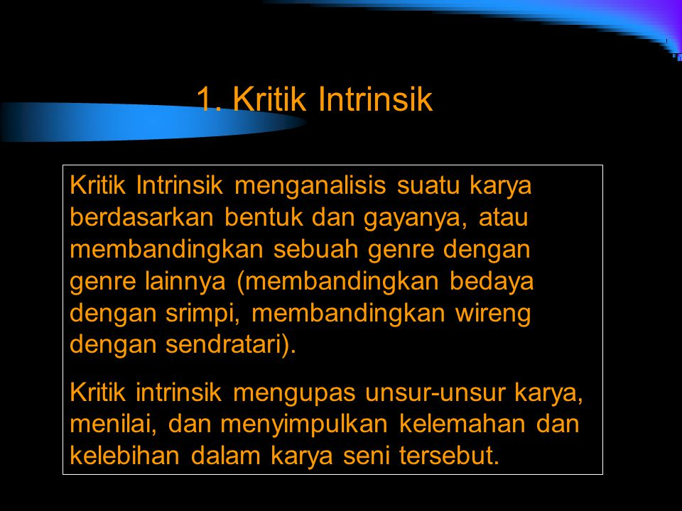 1. Kritik Intrinsik