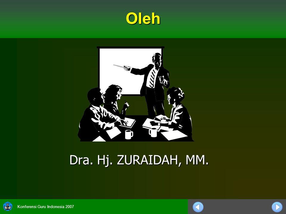 Oleh Dra. Hj. ZURAIDAH, MM.