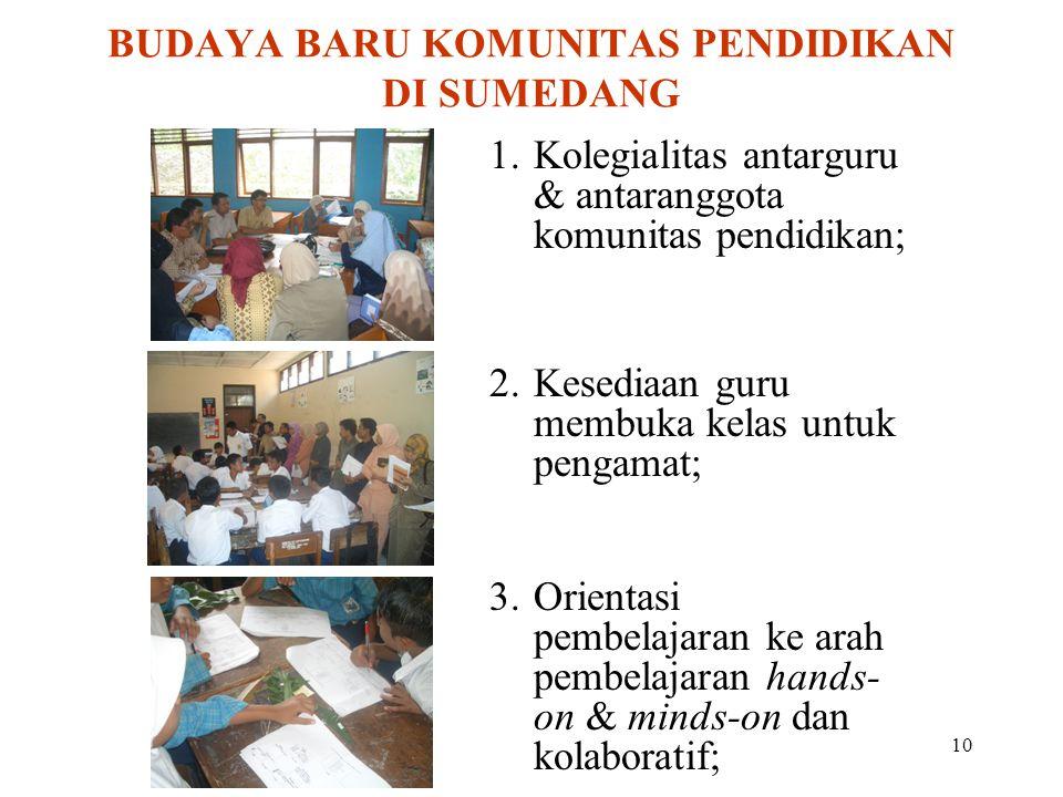 BUDAYA BARU KOMUNITAS PENDIDIKAN DI SUMEDANG