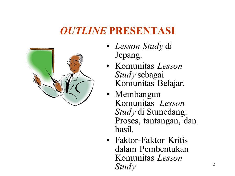 OUTLINE PRESENTASI Lesson Study di Jepang.