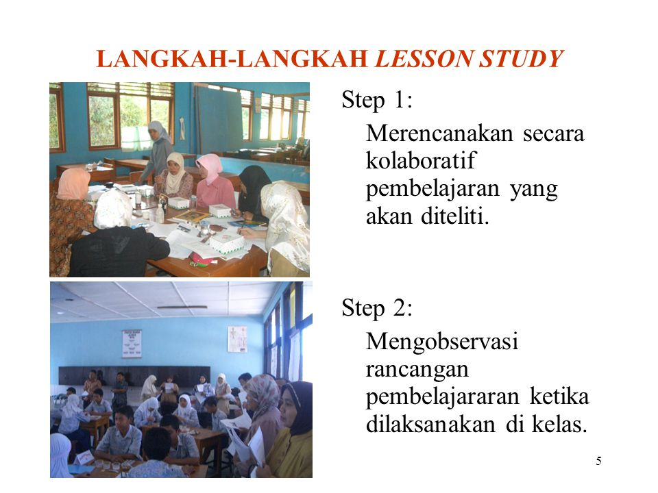 LANGKAH-LANGKAH LESSON STUDY