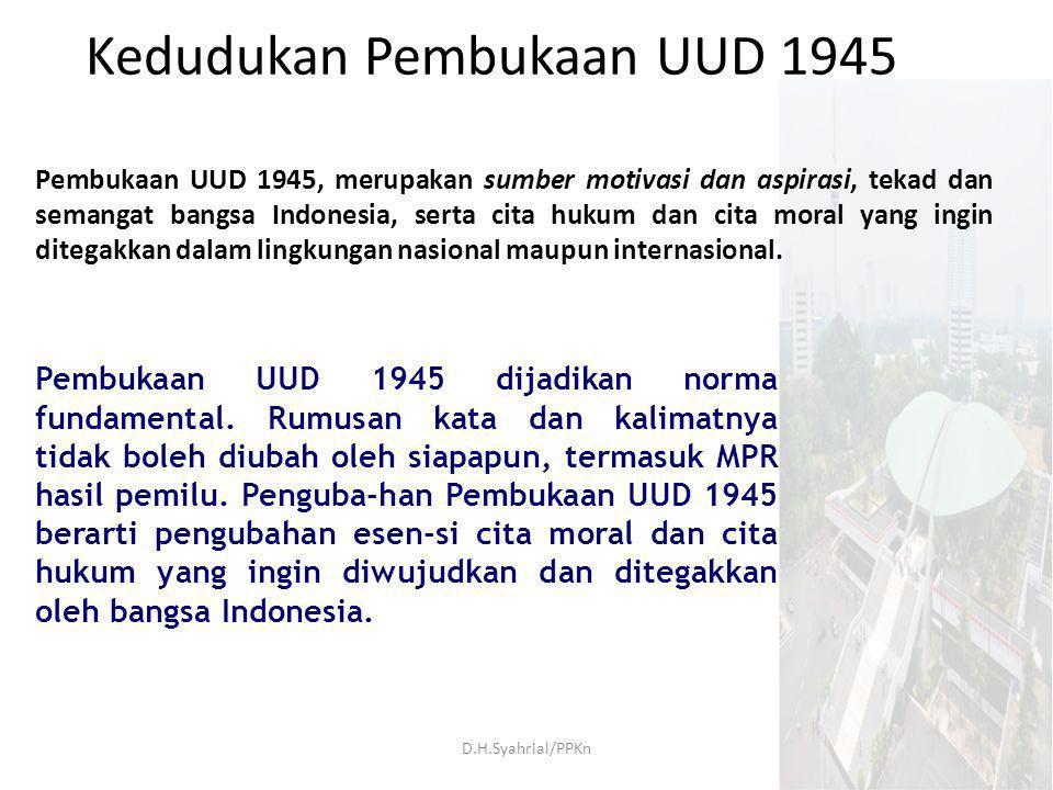 Kedudukan Pembukaan UUD 1945
