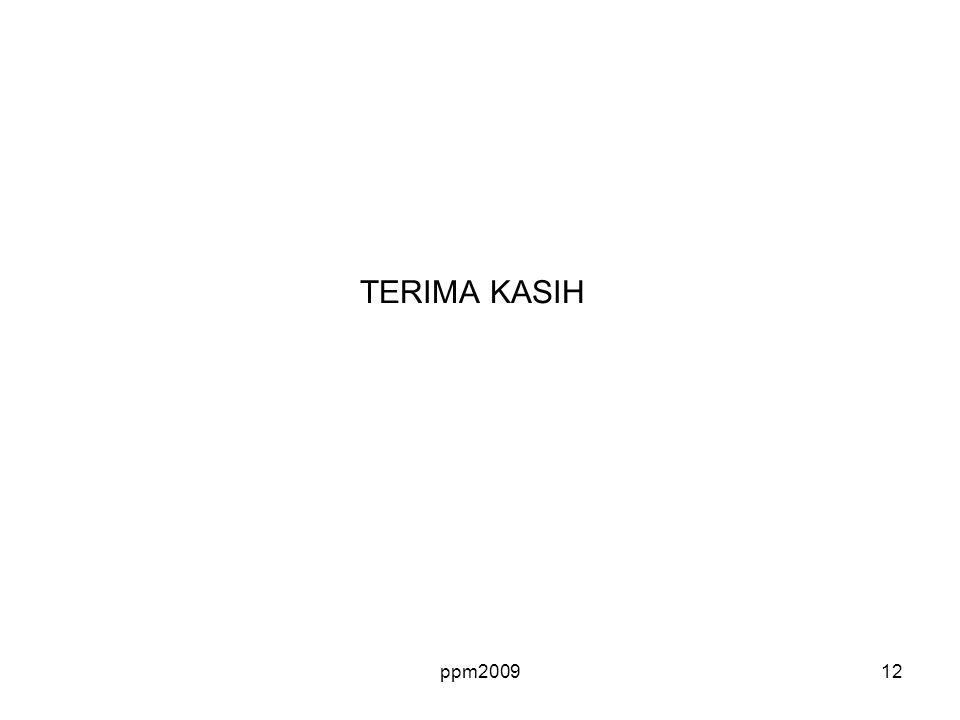 TERIMA KASIH ppm2009