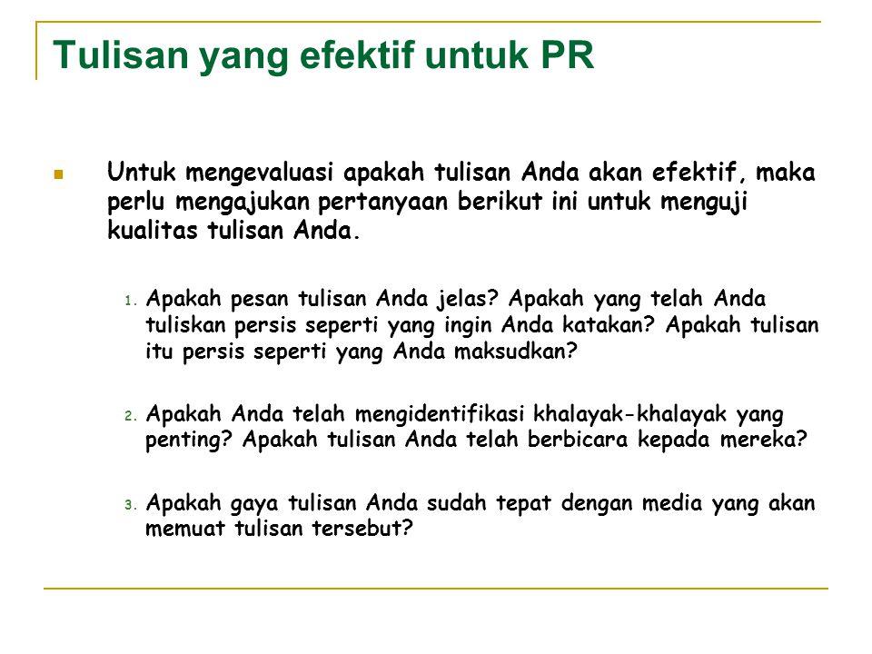 Tulisan yang efektif untuk PR