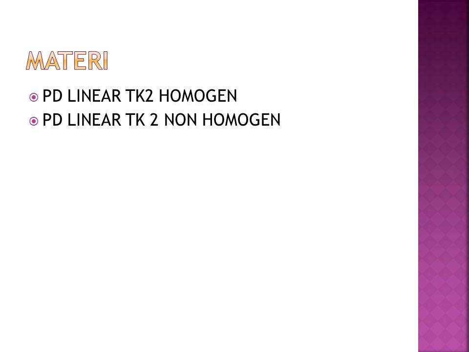 MATERI PD LINEAR TK2 HOMOGEN PD LINEAR TK 2 NON HOMOGEN