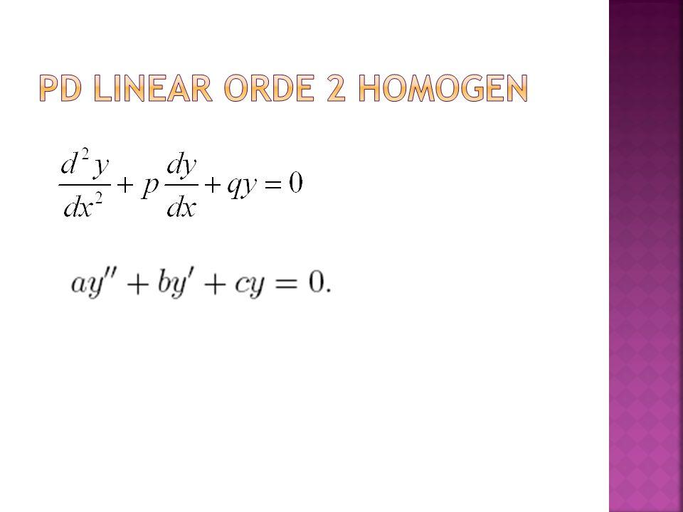 PD linear orde 2 homogen